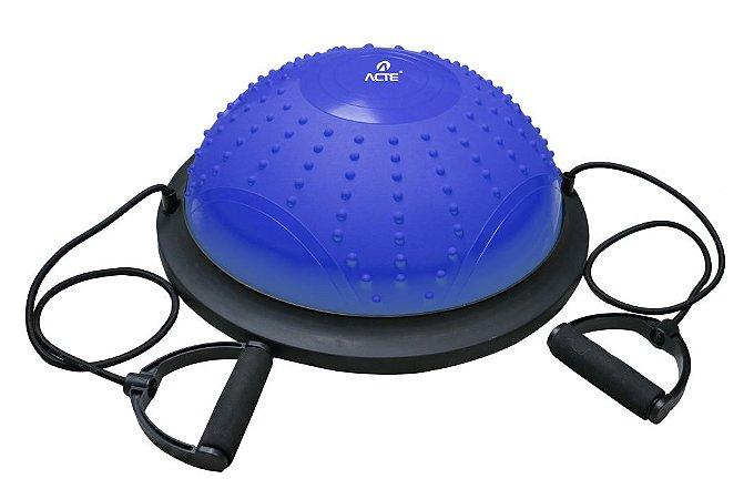 Bola Bosu Dome Acte Sports T282 com Bomba e Extensor - Azul
