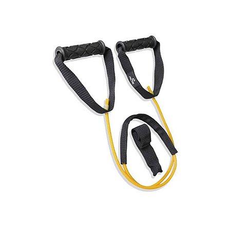 Extensor Elástico Nível Leve Acte Sports T28-L para Braços e Pernas - Preto e Amarelo