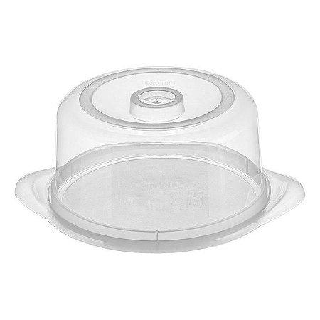 Porta Queijo de Plástico Sanremo 20,6x10cm - Branco