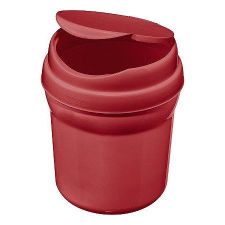 Lixeira para Pia de Plástico Sanremo Casar 2.4L - Vermelho
