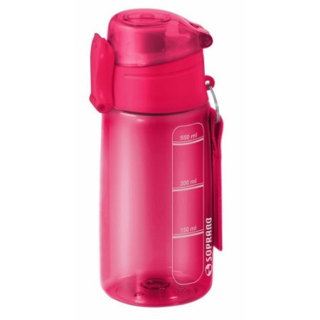 Garrafa Squeeze 550 ml com Infusor Fitness - Rosa - Soprano