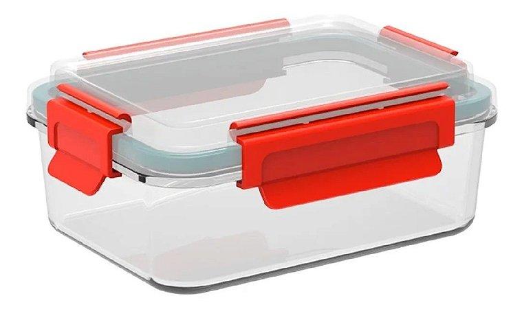 Marmita Assadeira Vidro Soprano 900ml Asse e Leve - Vermelho