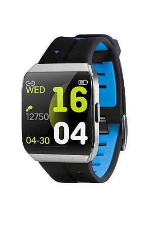 Relógio a Prova D'agua Xwatch - Android, Bluetooth e IOS - Pulseira Azul - Tec Toy