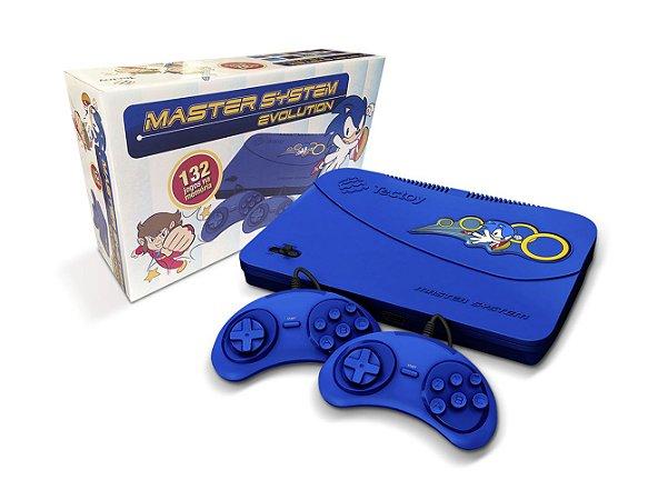 Master System Evolution Tec Toy com 132 Jogos na Memória - Azul