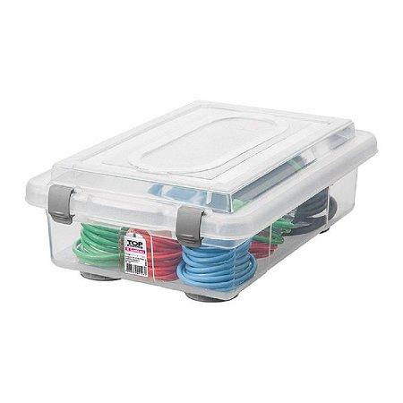Caixa Organizadora com Tampa de Plástico Sanremo 2,3L 26,2x17,7x8,5cm - Incolor
