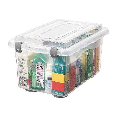 Caixa Organizadora com Tampa de Plástico Sanremo 4,3 litros - Incolor