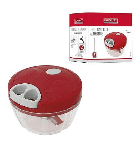 Triturador Cortador de Alimentos Hauskraft - Vermelho