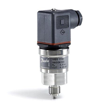 """Transmissor de Pressão MBS1700 060G6100 0 a 6 Bar 1/4"""" - Danfoss"""