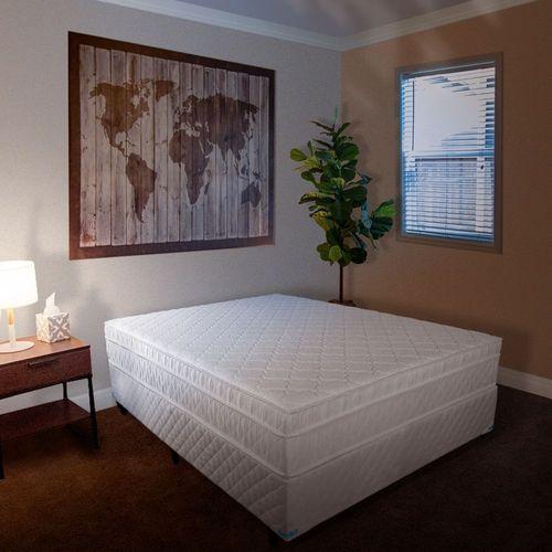 Cama Box + Colchão de Casal Sonoflet Pollo D45 188x138cm - Branco Gelo