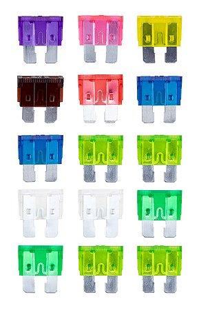 Kit com 15 Fusíveis para Carro Western - Colorido