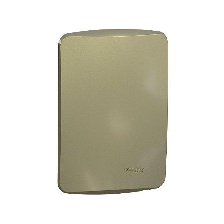 Placa Cega 4X2 com Suporte Miluz Dourada - S3B77103 - Schneider Electric