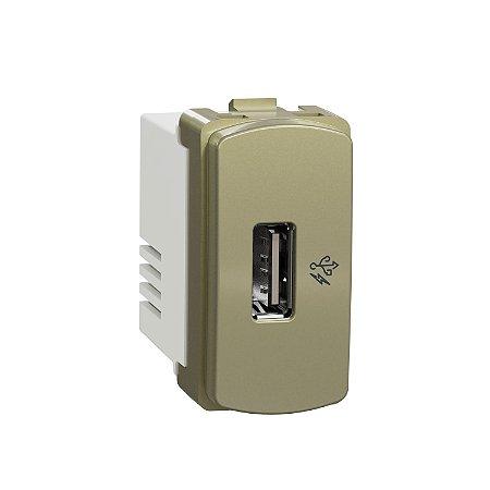 Módulo Carregador Usb 1A 127/220V Dourado Miluz - S3B70813 - Schneider Electric