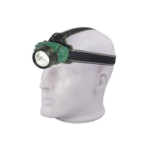 Lanterna de Cabeça Led Carbografite 1 Watt - Verde