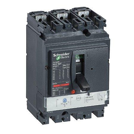 Disjuntor NSX160H TM125D 3P3D - LV430671 - Schneider Electric
