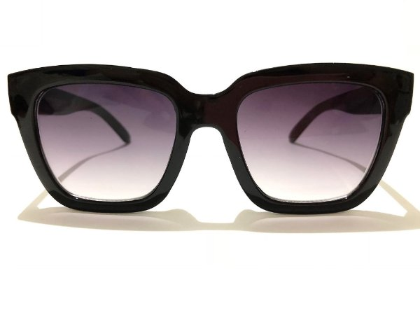 Óculos Solar Feminino Quadrado Preto