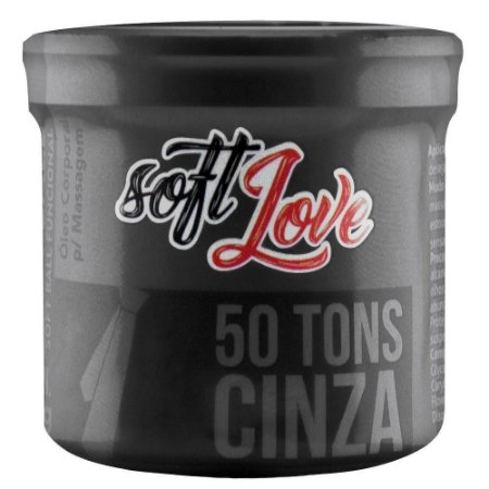 Soft Ball Triball 50 De Cinza 12g 03 Unidades Soft Love