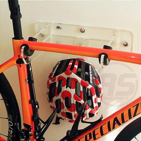 Suporte para bicicleta, capacete e acessórios | Speed / TT | Transparente| Modelo Unique