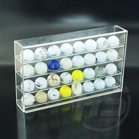 Caixa suporte para bolas de golfe |Transparente | Modelo Eagle