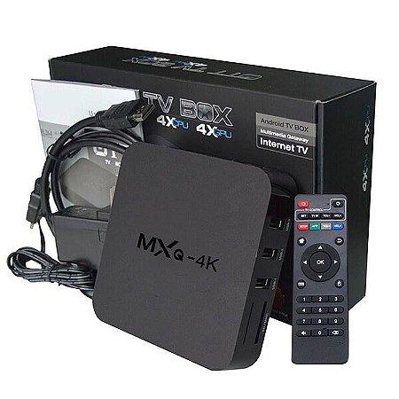 TV BOX GOIANIA MXQ PRO 4K TV Box android 7.1 com 2 meses de programacao gratis