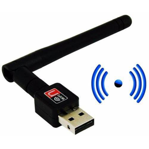 Adaptador Wireless Usb Wifi 600mbps Sem Fio C/ Antena 5 Dbi