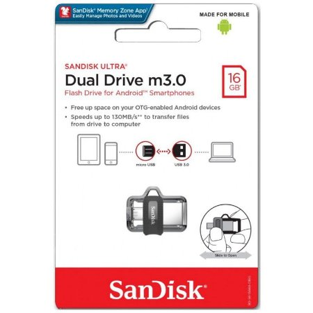 Pen Drive Dual Drive 16gb micro usb 3.0 SanDisk
