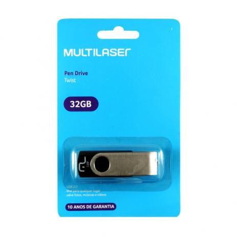 Pen Drive 32gb Multilaser Twist