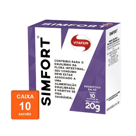 Simfort Sachê - Caixa com 10 sachês de 2g