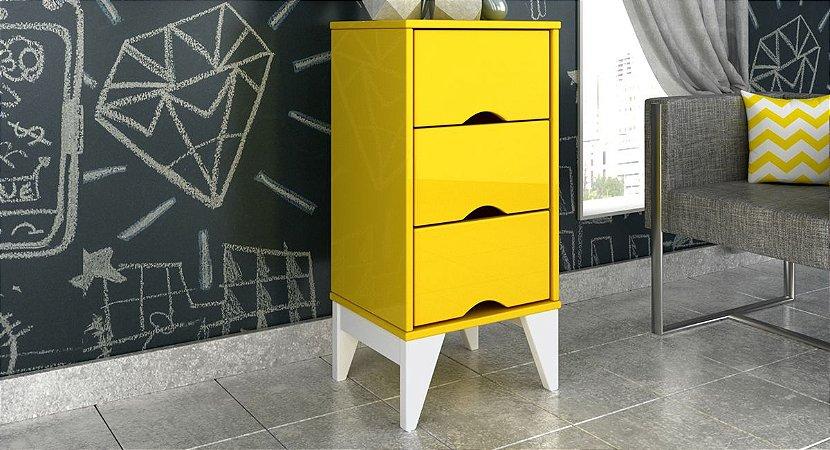 Criado Twister 3 gavetas Tcil Amarelo