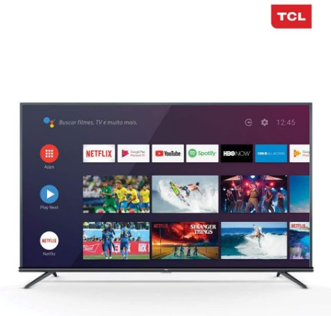 "Smart TV 4K LED 55"" 50P8M Android Wi-Fi Inteligência Artificial - TCL"
