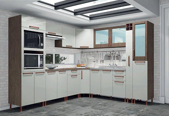 Cozinha Modulada 11 Peças Gold Indekes