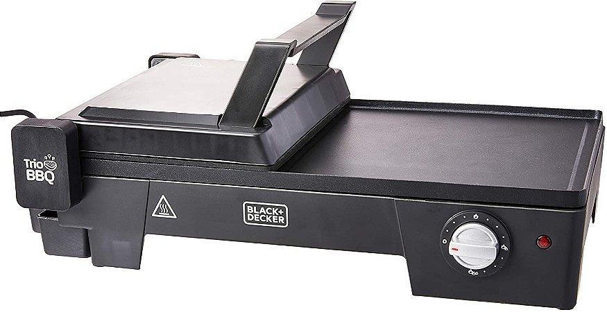 Grill Black & Decker 3 em 1 Preto