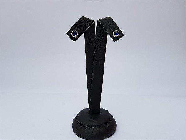 Brinco Mini Quadrado Solitário Xs12 Dark