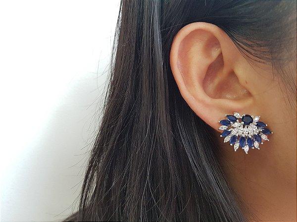 Brinco Bouquet Crystal Azul 30067001842