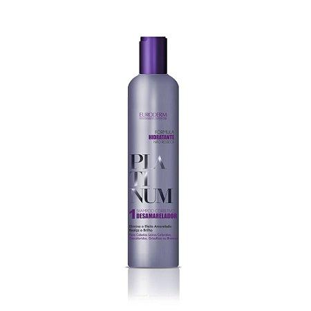 Shampoo Corretivo Desamarelador Euroderm Platinum 400ml