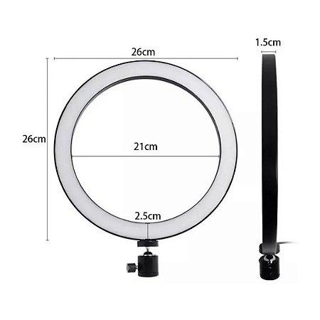 Ring Light com Tripé de 10 Polegadas. (26cm)