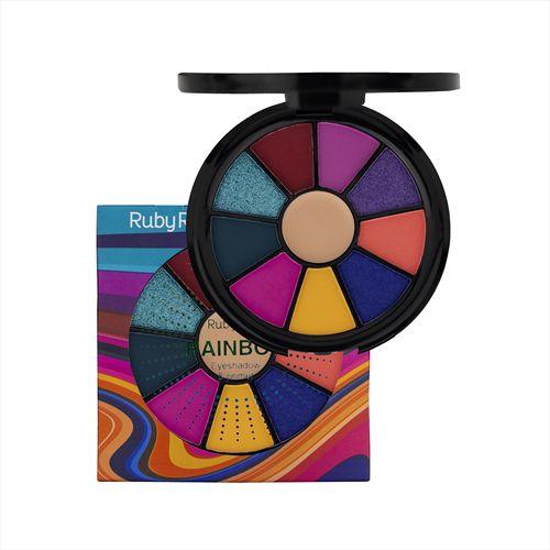Mini Paleta Rainbow Sombras e Primer - RUBY ROSE