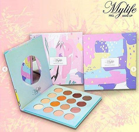 Paleta de Sombra Com 16 Cores - MYLIFE PRO
