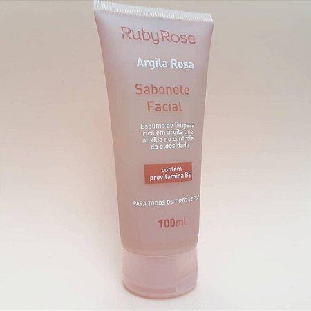 Sabonete Facial Argila Rosa - Ruby Rose