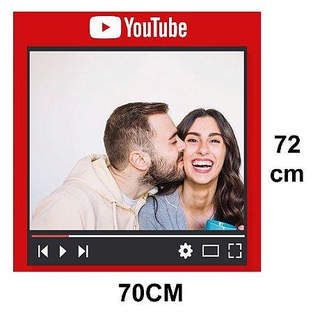 Placa Moldura Youtube