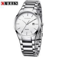Relógio Curren 8106 Masc.luxo Casual Branco A Prova Dágua -