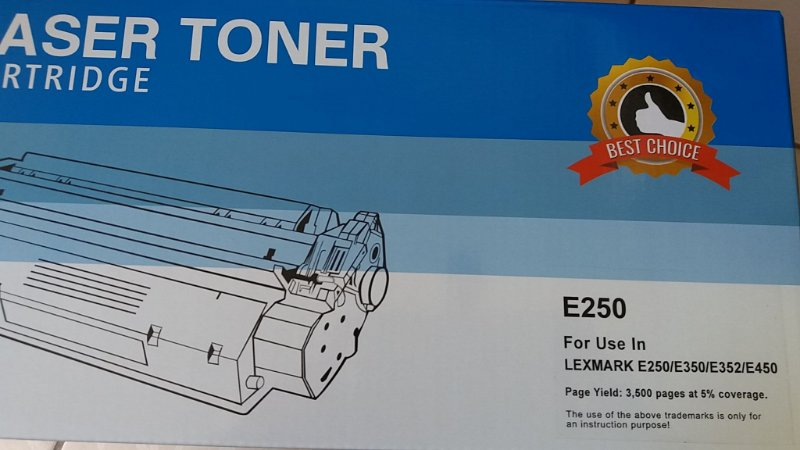 TONER LEXMARK E-250/350/352/450