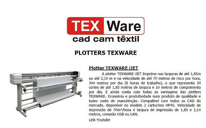 Plotter  de Risco Texware Jet 1,85m à 2,10m - Novas Encaixe e Modelagem