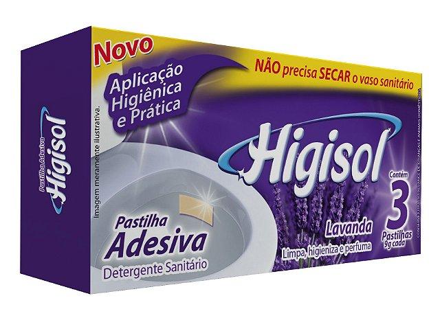 Pastilha Adesiva Higisol Lavanda 3x9g 24 unidades