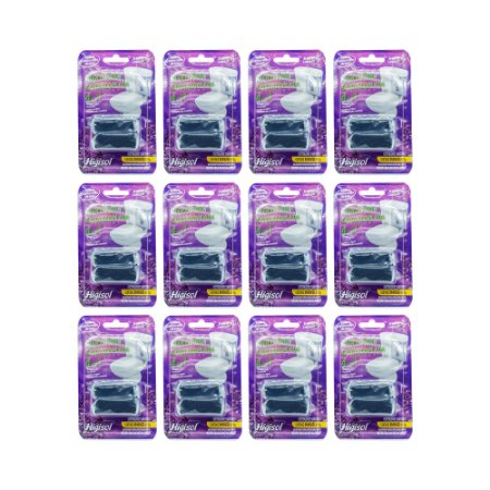 Bloco Sanitário para Caixa Acoplada Lavanda 2x35g Blister (Caixa com 12 unidades)