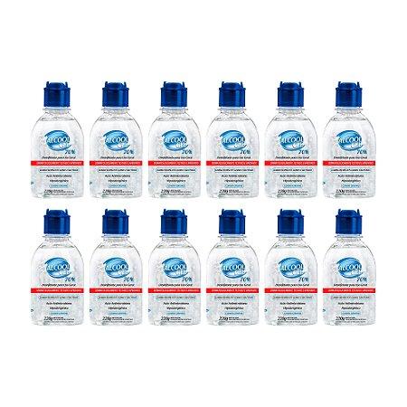 Álcool Gel Desinfetante Higisol 220g (Caixa com 12 unidades)