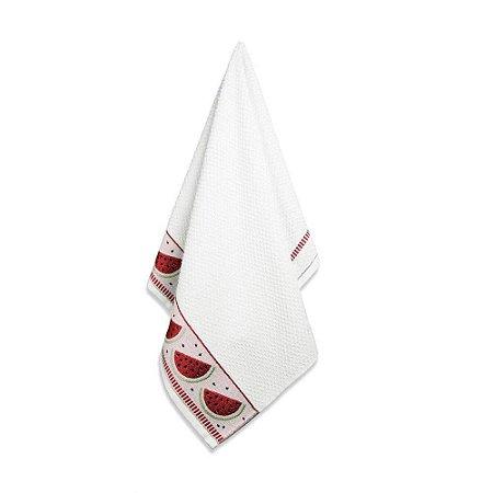 Pano de Copa Melancia 49 x 70cm Branco Karsten