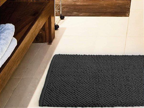 Tapete para Banheiro Antiderrapante Micropop Cinza