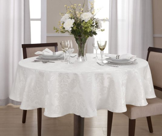 Toalha de Mesa Jacquard Home Design Attuale Egeo Branca
