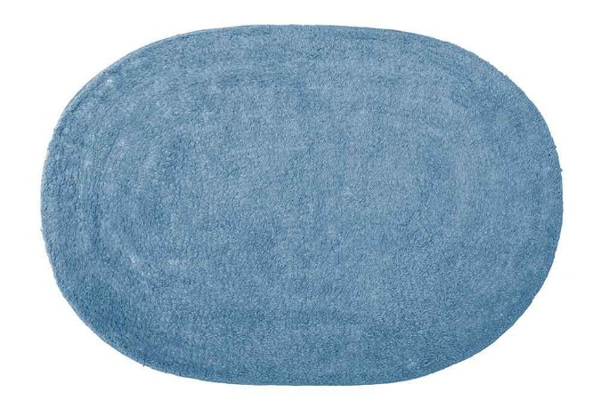 Tapete de Banheiro Oval Missy Attuale 60 x 40cm Azul