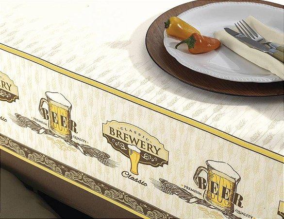 Toalha de Mesa Retangular Beer Dia a dia 140x210 cm 6 Lugares Karsten